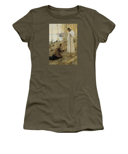 Christ And Mary Magdalene Women's T-Shirt (Athletic Fit)