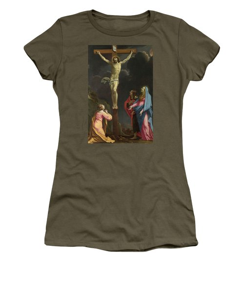Christ On The Cross With The Virgin And Saints Women's T-Shirt
