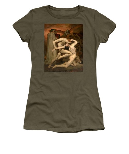 Dante And Virgil In Hell  Women's T-Shirt (Athletic Fit)