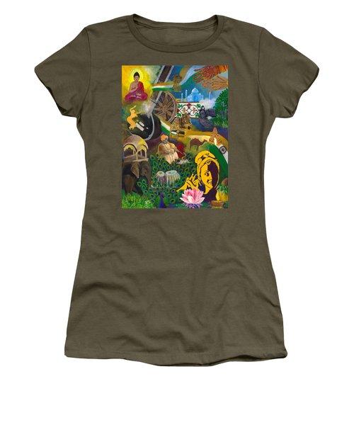 Discover India Women's T-Shirt (Junior Cut) by Alika Kumar