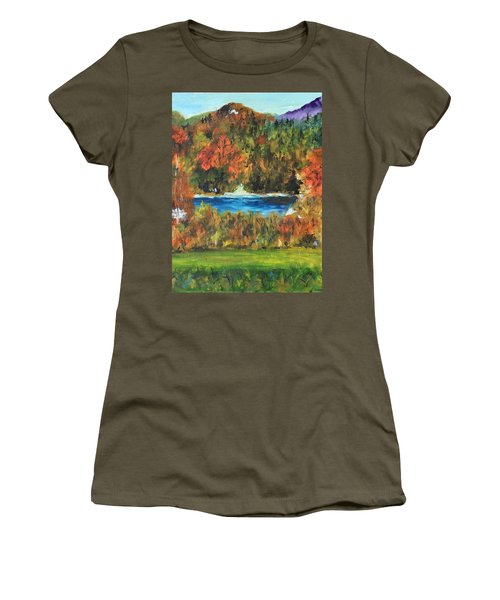 Fall In The Adirondacks Women's T-Shirt (Athletic Fit)