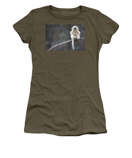 Women's T-Shirt featuring the photograph Golden Snub-nosed Monkey Rhinopithecus by Cyril Ruoso