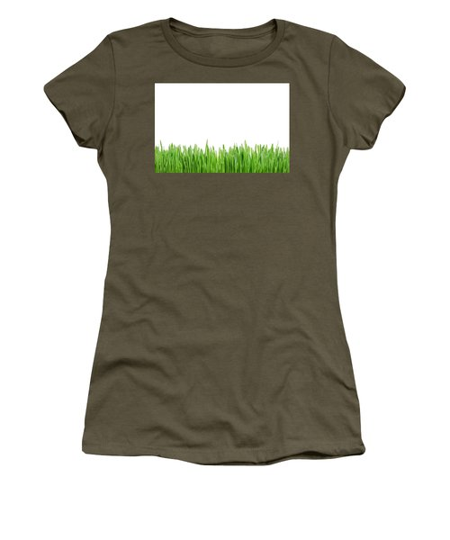 Green Grass Women's T-Shirt (Athletic Fit)