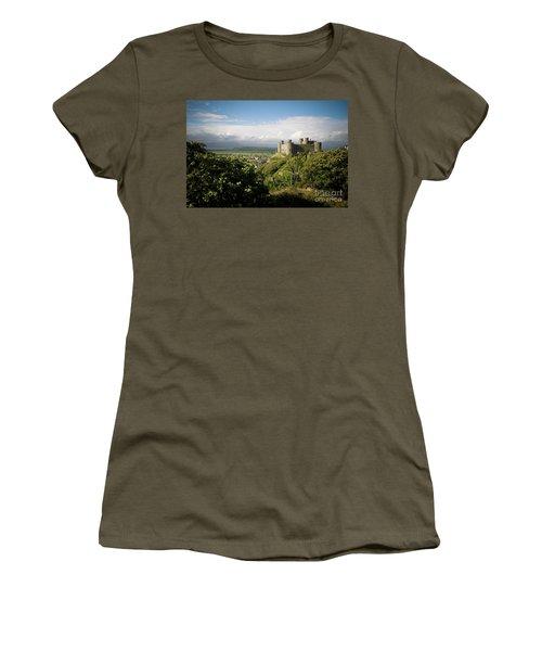 Harlech Castle, Snowdonia, Gwynedd, North Wales, Uk Women's T-Shirt
