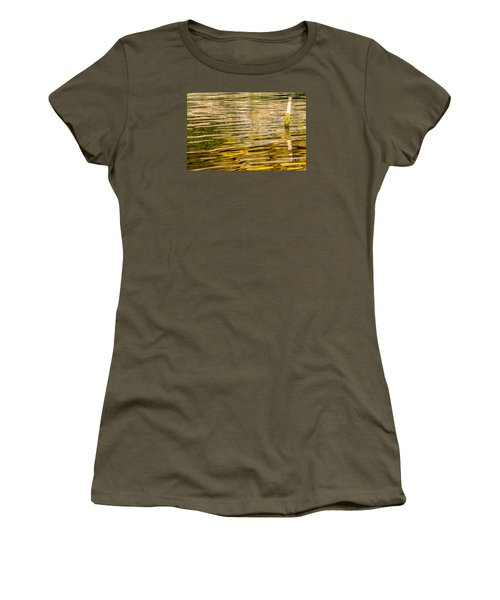 Women's T-Shirt (Junior Cut) featuring the photograph Lake Reflection by Odon Czintos