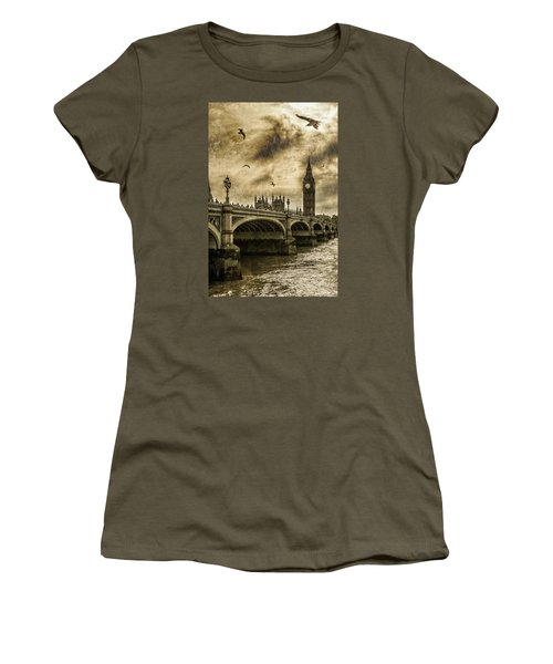 London Women's T-Shirt (Junior Cut) by Jaroslaw Grudzinski
