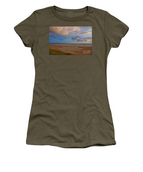 2- Marcus Aurelius Women's T-Shirt (Junior Cut) by Joseph Keane