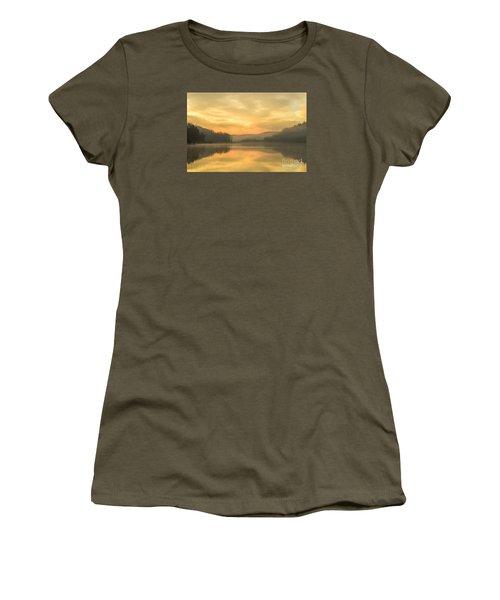 Misty Morning On The Lake Women's T-Shirt (Junior Cut) by Thomas R Fletcher
