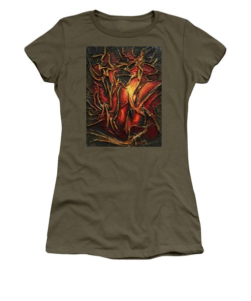 Women's T-Shirt (Junior Cut) featuring the mixed media Passion by Angela Stout