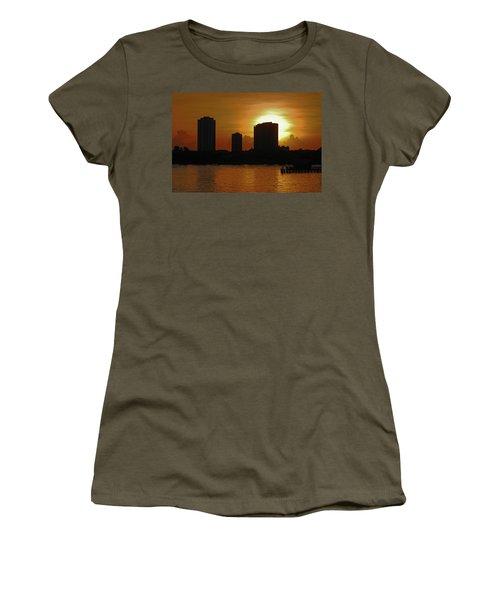 Women's T-Shirt (Junior Cut) featuring the photograph 2- Singer Island by Joseph Keane