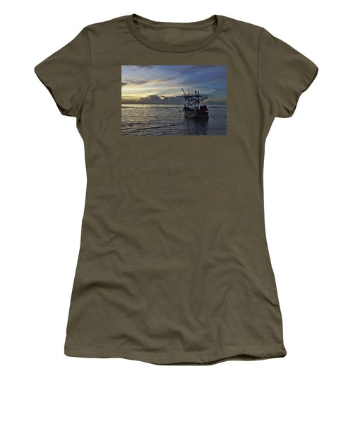 Sunrise On Koh Tao Island In Thailand Women's T-Shirt (Athletic Fit)
