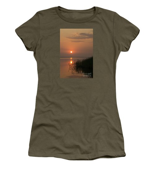Women's T-Shirt (Junior Cut) featuring the photograph Sunset  by Inge Riis McDonald