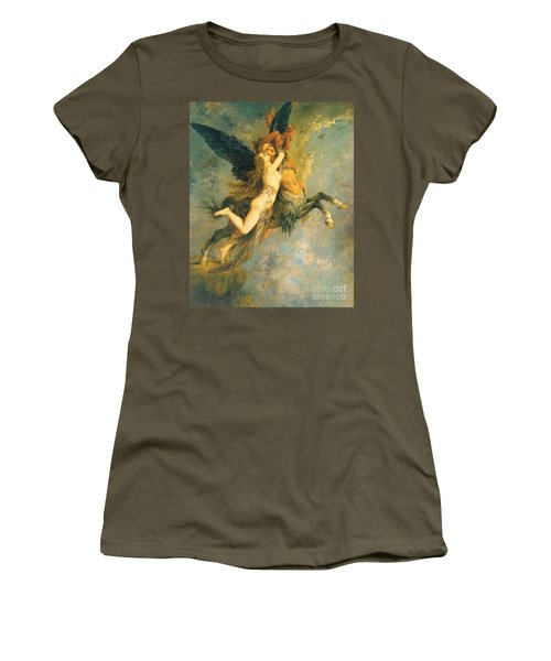 The Chimera Women's T-Shirt (Junior Cut) by Gustave Moreau