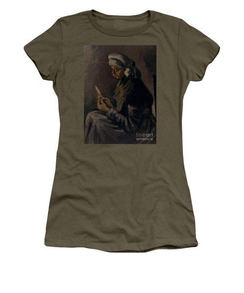 The Potato Peeler, 1885 Women's T-Shirt (Junior Cut) by Vincent Van Gogh