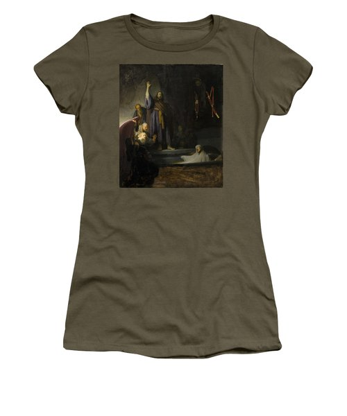 Women's T-Shirt (Junior Cut) featuring the painting The Raising Of Lazarus by Rembrandt