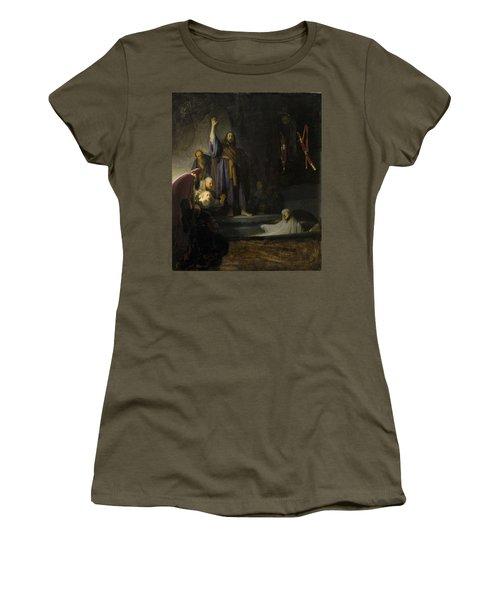 The Raising Of Lazarus Women's T-Shirt (Junior Cut) by Rembrandt