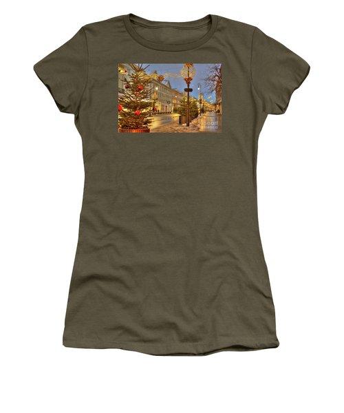 Women's T-Shirt (Junior Cut) featuring the photograph Warsaw, Poland by Juli Scalzi