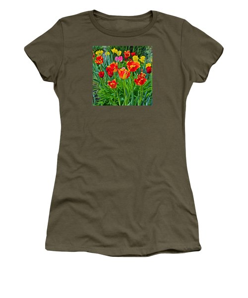 2015 Acewood Tulips 6 Women's T-Shirt (Junior Cut) by Janis Nussbaum Senungetuk