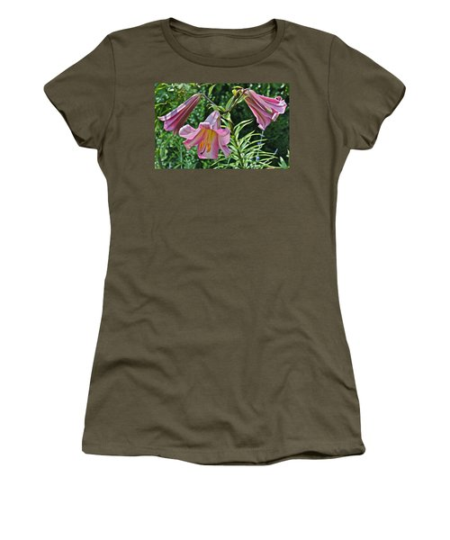 2015 Summer At The Garden Lilies In The Rose Garden 2 Women's T-Shirt