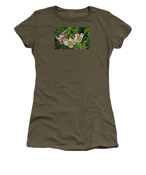 2015 Summer At The Garden Lilies In The Rose Garden 1 Women's T-Shirt