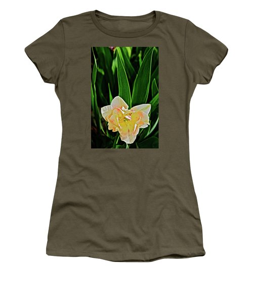 Women's T-Shirt (Athletic Fit) featuring the photograph 2018 Vernon Tulips 4 by Janis Nussbaum Senungetuk
