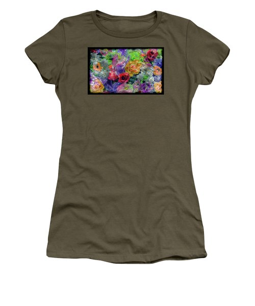 21a Abstract Floral Painting Digital Expressionism Women's T-Shirt
