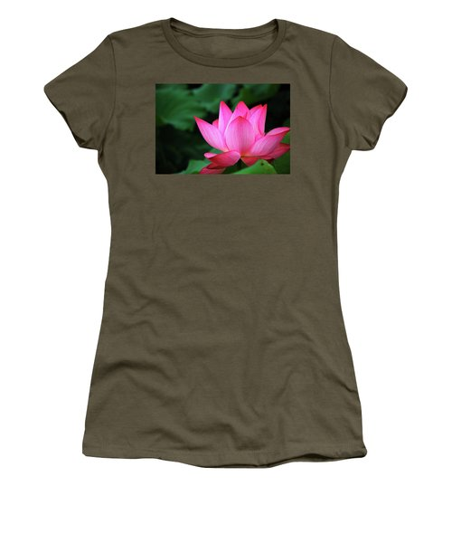 Blossoming Lotus Flower Closeup Women's T-Shirt
