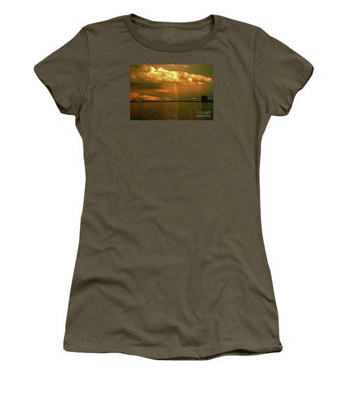 Women's T-Shirt (Junior Cut) featuring the photograph 3- Blue Heron Bridge by Rainbows