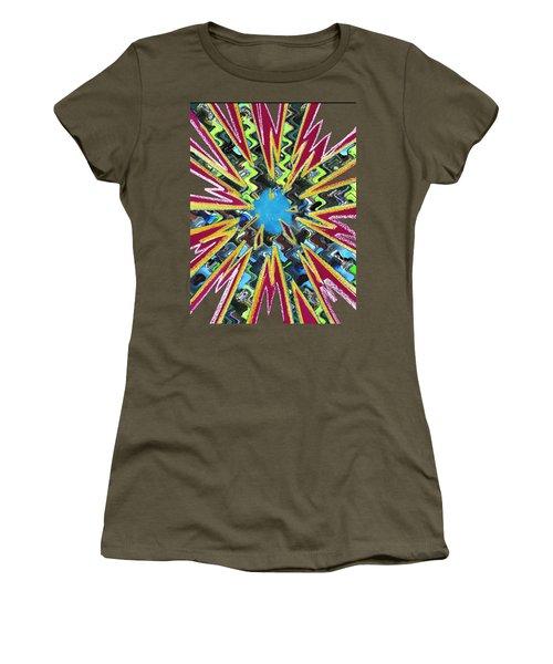 Goodluck Star Sparkles  Women's T-Shirt (Junior Cut) by Navin Joshi
