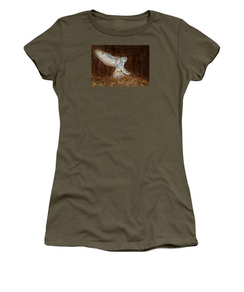 Great Horned Owl Women's T-Shirt (Junior Cut) by CR Courson