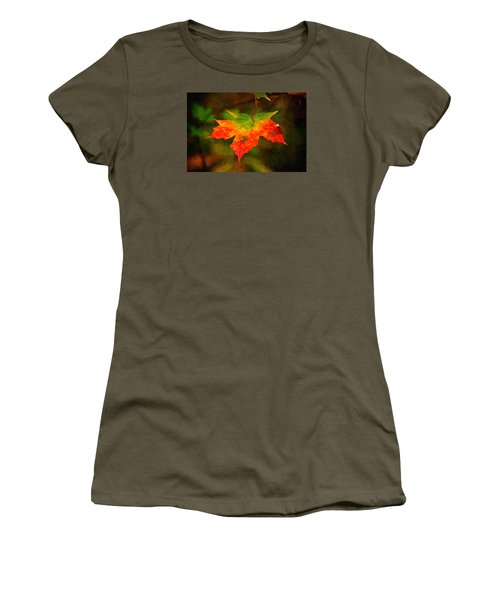 Maple Leaf Women's T-Shirt (Athletic Fit)