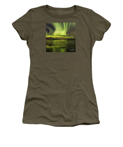 Northern Lights Reykjavik Women's T-Shirt (Athletic Fit)