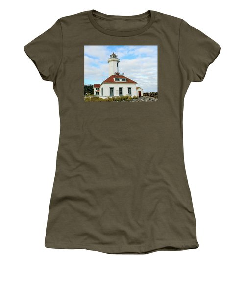Point Wilson Lighthouse Women's T-Shirt (Junior Cut) by E Faithe Lester