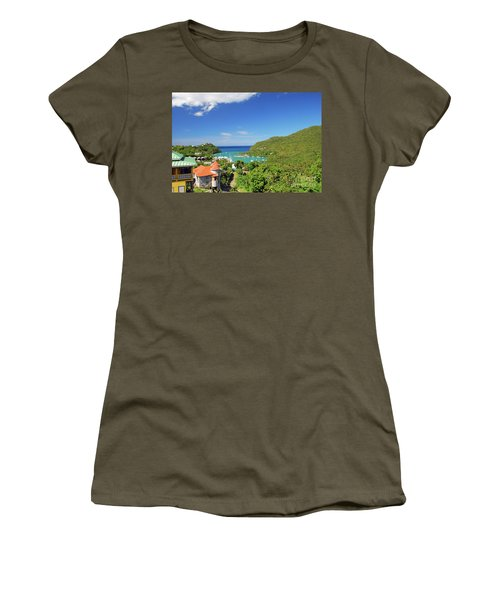 Women's T-Shirt (Athletic Fit) featuring the photograph Saint Lucia by Gary Wonning