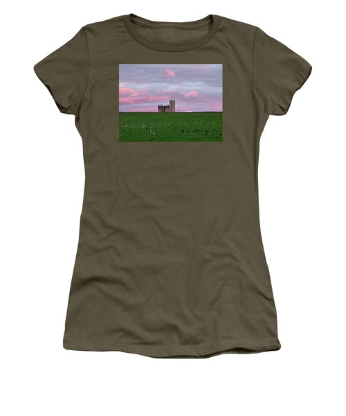 Women's T-Shirt (Junior Cut) featuring the photograph 3 Silos by Robert Geary