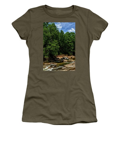 Women's T-Shirt (Junior Cut) featuring the photograph Williams River After The Flood by Thomas R Fletcher