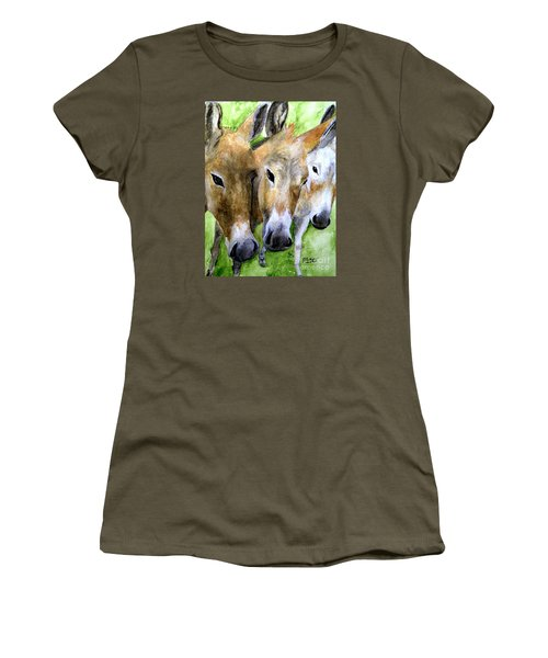 3 Wise Mules Women's T-Shirt (Athletic Fit)