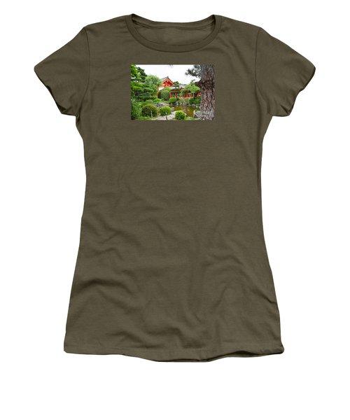 Women's T-Shirt (Junior Cut) featuring the digital art 33 Sanjusangendo 1 by Eva Kaufman