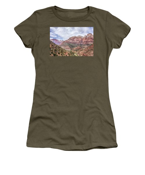 Women's T-Shirt featuring the photograph Zion Canyon National Park Utah by Alex Grichenko