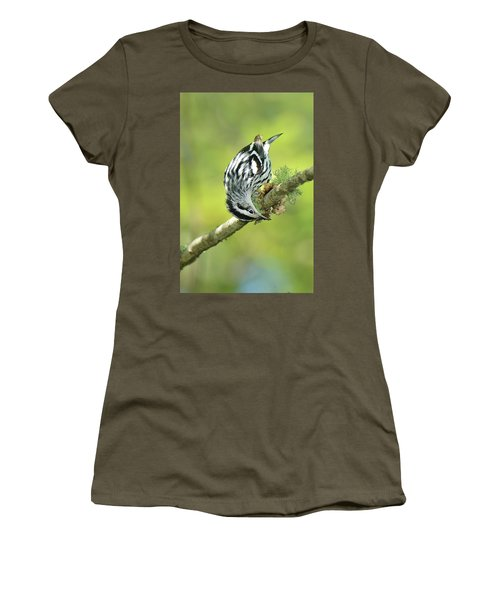 Black And White Warbler Women's T-Shirt (Athletic Fit)
