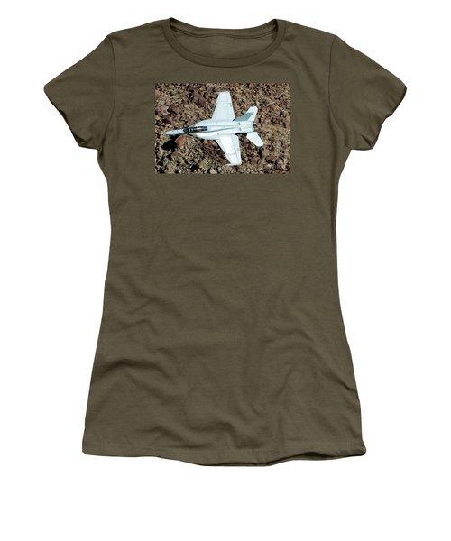 Boeing F/a-18f Super Hornet Dd-227 Us Navy Vx-31 Dust Devils Women's T-Shirt