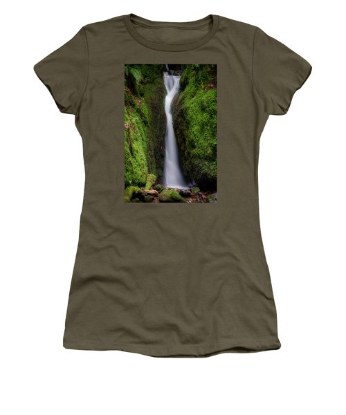 Women's T-Shirt (Athletic Fit) featuring the photograph Dollar Glen In Clackmannanshire by Jeremy Lavender Photography