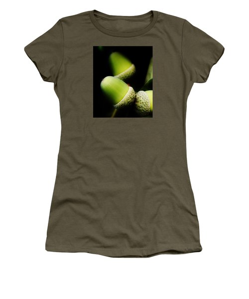 Foliage And Acorns Women's T-Shirt (Athletic Fit)