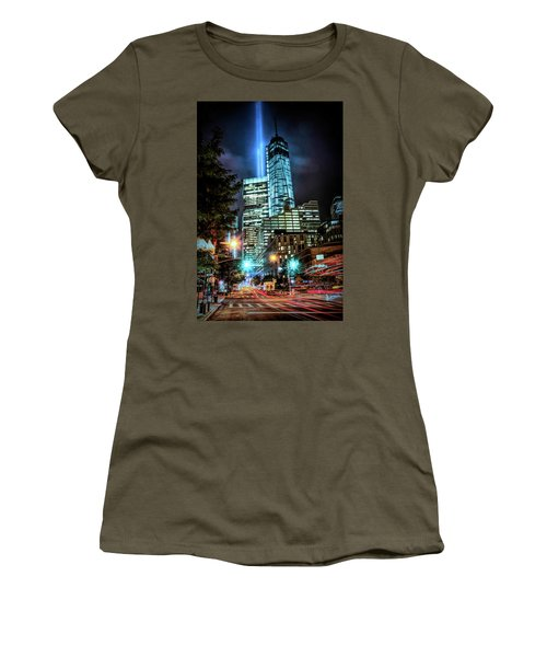 Women's T-Shirt featuring the photograph Freedom Tower by Theodore Jones