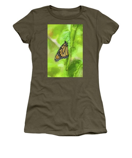Monarch Butterflies Women's T-Shirt (Athletic Fit)