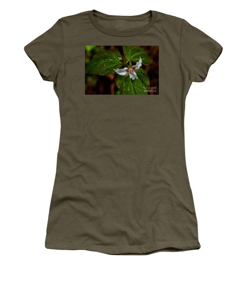 Women's T-Shirt (Junior Cut) featuring the photograph Painted Trillium  by Thomas R Fletcher