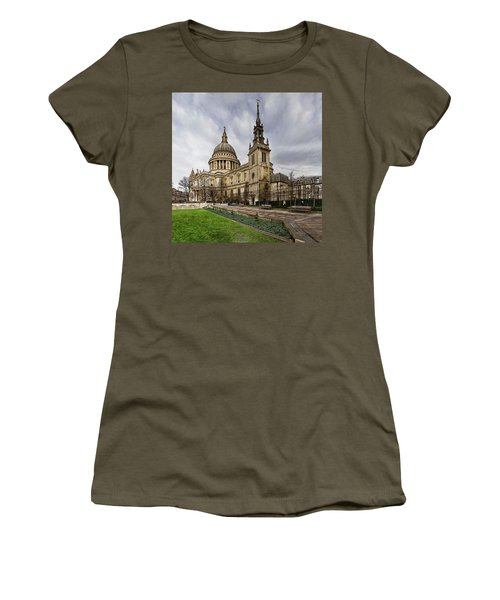 St Pauls Cathedral Women's T-Shirt (Junior Cut) by Shirley Mitchell