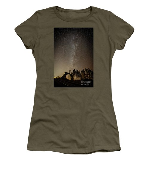 The Milky Way Over The Hafod Arch, Ceredigion Wales Uk Women's T-Shirt