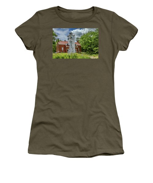 Women's T-Shirt (Junior Cut) featuring the photograph 40 Mile Point Lighthouse by Bill Gallagher