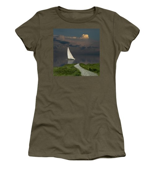 Women's T-Shirt (Athletic Fit) featuring the photograph 4456 by Peter Holme III